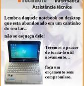 Publicidade – DTM-technote conserta e recupera computadores. No Centro Comercial de Alphaville