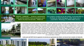 Apartamento à venda: Resort Tamboré, excelente oportunidade, muito abaixo do preço! Direto com proprietário