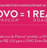 PÁSCOA DO BEM – Ofner vai doar R$ 1,00 de cada ovo de Páscoa vendido, além de entregar três ovos gigantes para instituições assistenciais