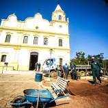Largo da Matriz recebe obras de reforma e revitalização em Santana de Parnaíba