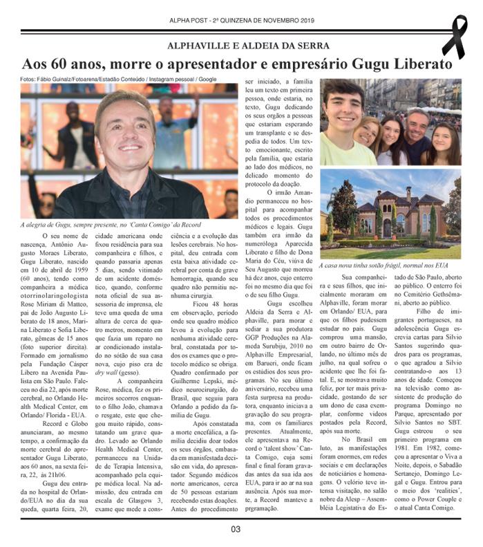 SEGUNDA QUINZENA DE ALPHAPOST NOVEMBRO 2019 pagina 3 copy