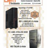 Publicidade: DTM technote vende PCs com configurações especiais. Aceita encomenda de montagens de PCs
