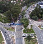 1ª Semana de obras da Prefeitura de Santana de Parnaíba no túnel na Praça da Paz tem fluidez normal no trânsito em Alphaville