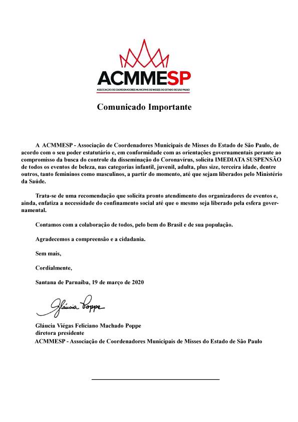Comunicado 1 - coronavirus copy