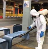 Para combater o novo coronavírus Prefeitura de Santana de Parnaíba realiza desinfecção dos principais pontos de circulação de pessoas