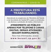 Comunicado Prefeitura de Barueri