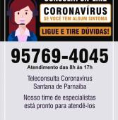 Santana de Parnaíba lançou ontem: SISTEMA INOVADOR DE CONSULTAS ONLINE para suspeita de coronavírus