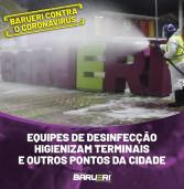Barueri: desinfecção na cidade
