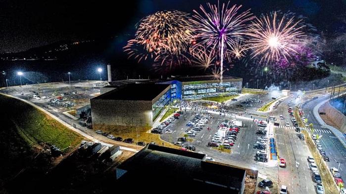 Inauguração do Centro Administrativo aerea fogos