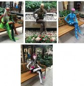 Exposição Human Parade no Alpha Square Mall destaca valores humanos retratados por artistas plásticos em manequins