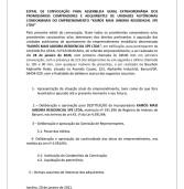 Edital de Convocação de Assembleia Geral Extraordinária – Kairós Mais Jandira Residencial SPE LTDA.