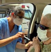 Vacinação de idosos acima de 90, em Santana de Parnaíba, sob agendamento